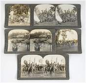 Native Americans Antique Stereoviews Group of Five