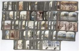 Group 143 Antique Stereoviews Mostly Keystone