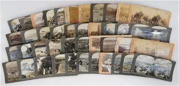 Palestine Group of Forty-Two Antique Stereoviews