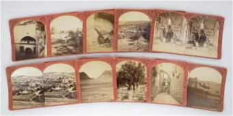 Hebron Palestine Group of Ten Antique Stereoviews