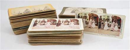 Large Group of [158] Stereoviews of People