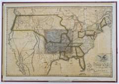 Benjamin Warner Early 19th Century U.S. Map