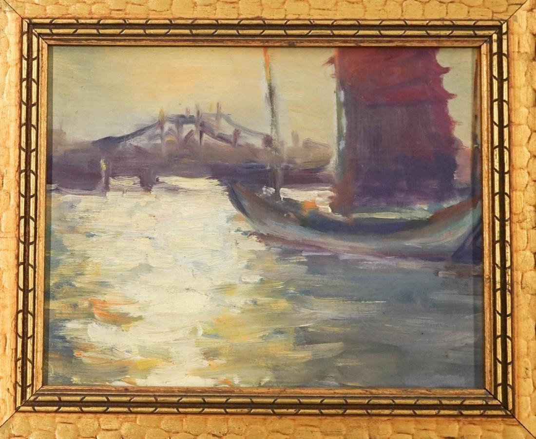 Frances Brown (American 20th C.) Framed Oil