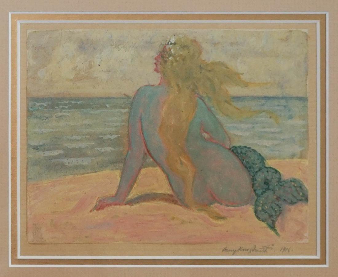 Harry Knox Smith (New York 1879-1957) Mermaid