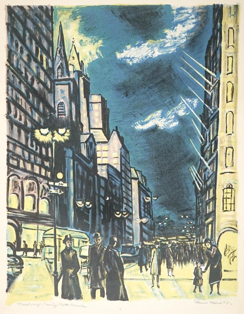 Ernest Fiene (American 1894-1965) Evening 5th Ave.