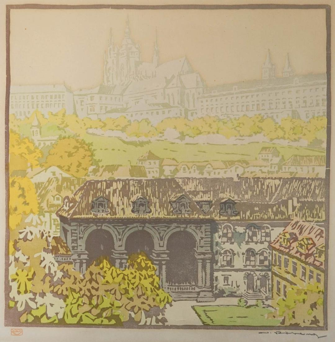 A Signed Woodblock Print Illegibly Signed