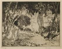 Edmund Ashe (1867 - 1941) Etching
