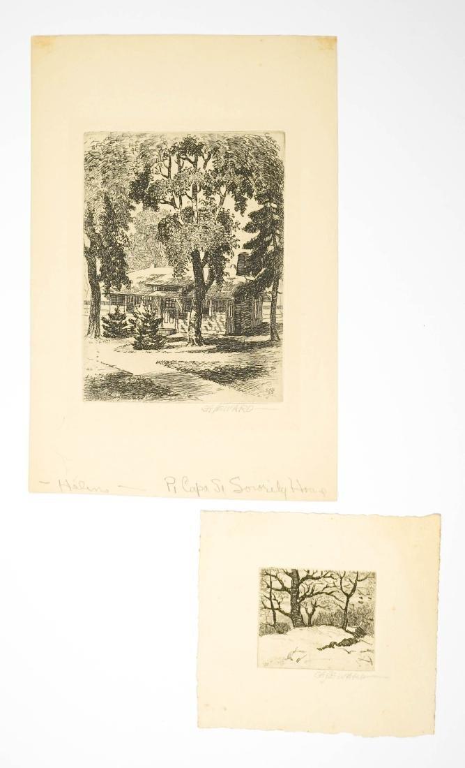 Coy Avon Seward (1884-1939) Etchings Two Pcs.