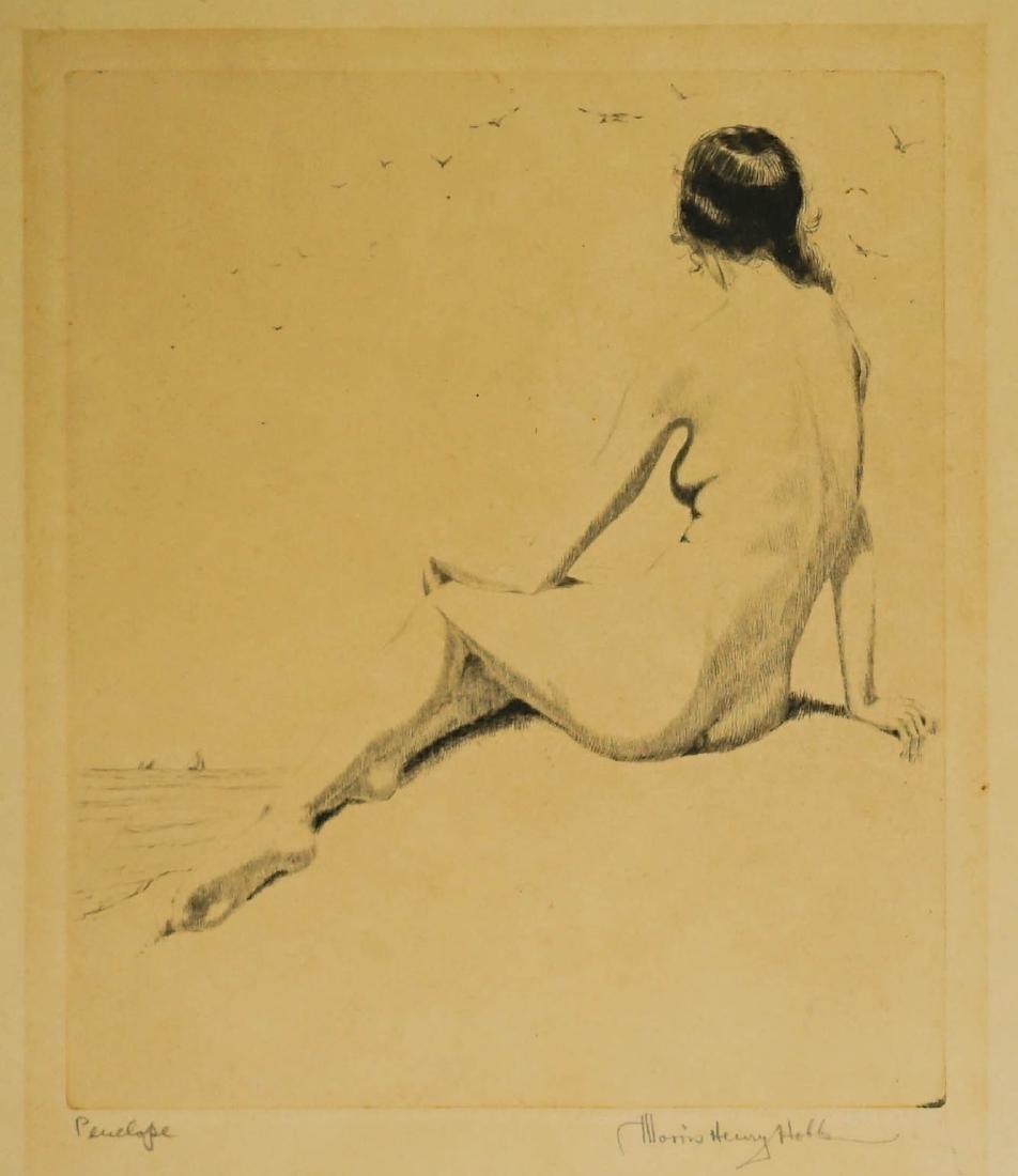 Morris Henry Hobbs (1892-1967) Etching
