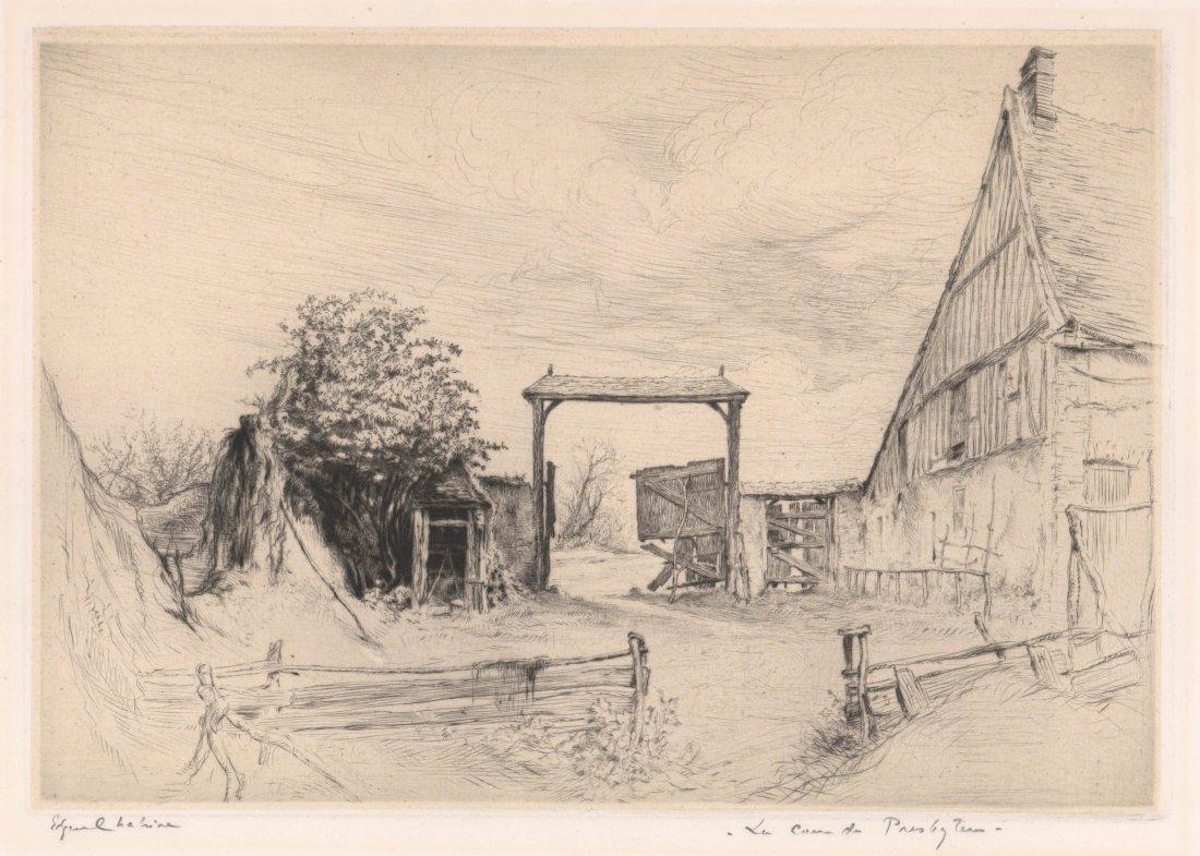 Edgar Chaine (1874-1947) Etching