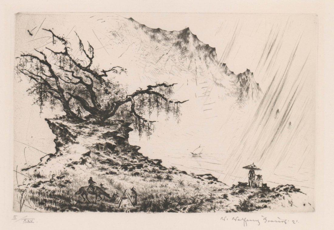 W. Wolfgang Breuer (1895-1927) Etching China