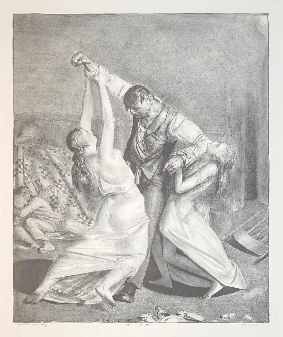 George Bellows Lithograph [The Drunk]