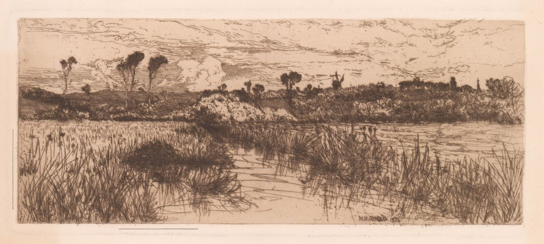 Mary Nimmo Moran (1842-1899) Etching