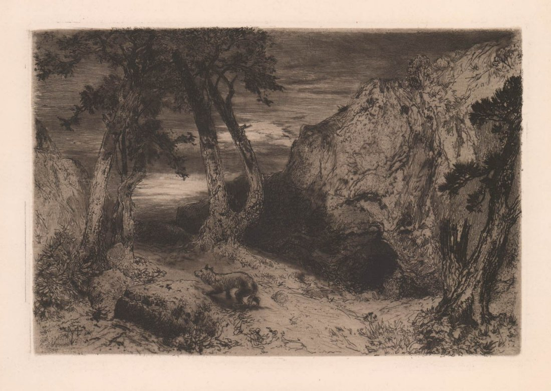 Thomas Moran (1837-1926) Etching