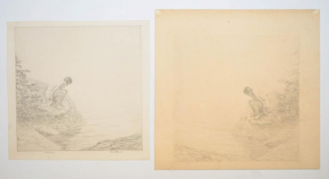 Kerr Eby Etching and Companion Drawing