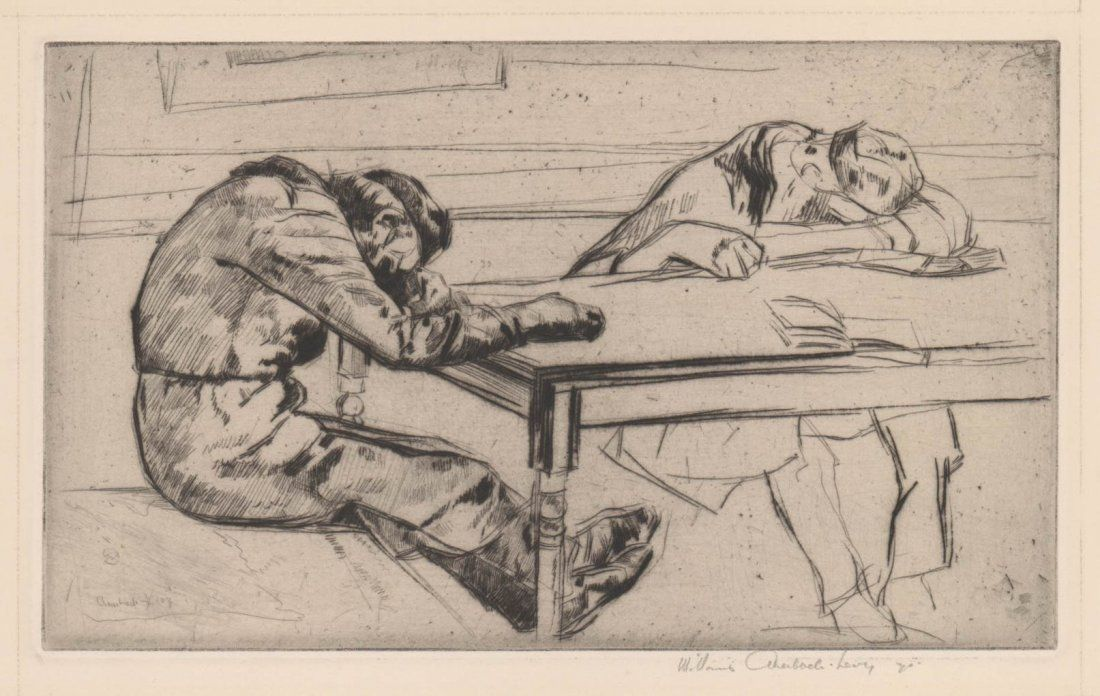 William Auerbach-Levy Etching
