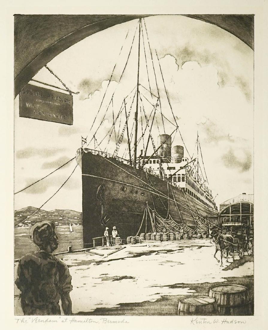 Kenton W. Hudson (born 1911) Aquatint