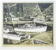 Carroll Thayer Berry Woodblock Print