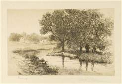 Antique Etching Signed Edith Penman