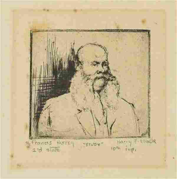 Harry F. Mack (Louisiana born 1907) Etching