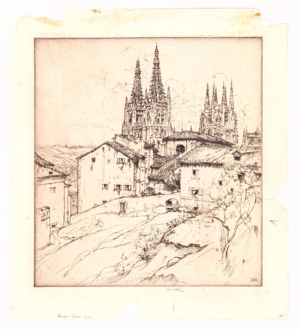 Ernest Roth Etching - 2