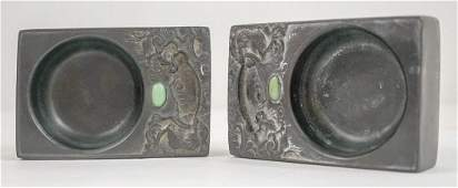 Two Chinese Carved Ink Stones