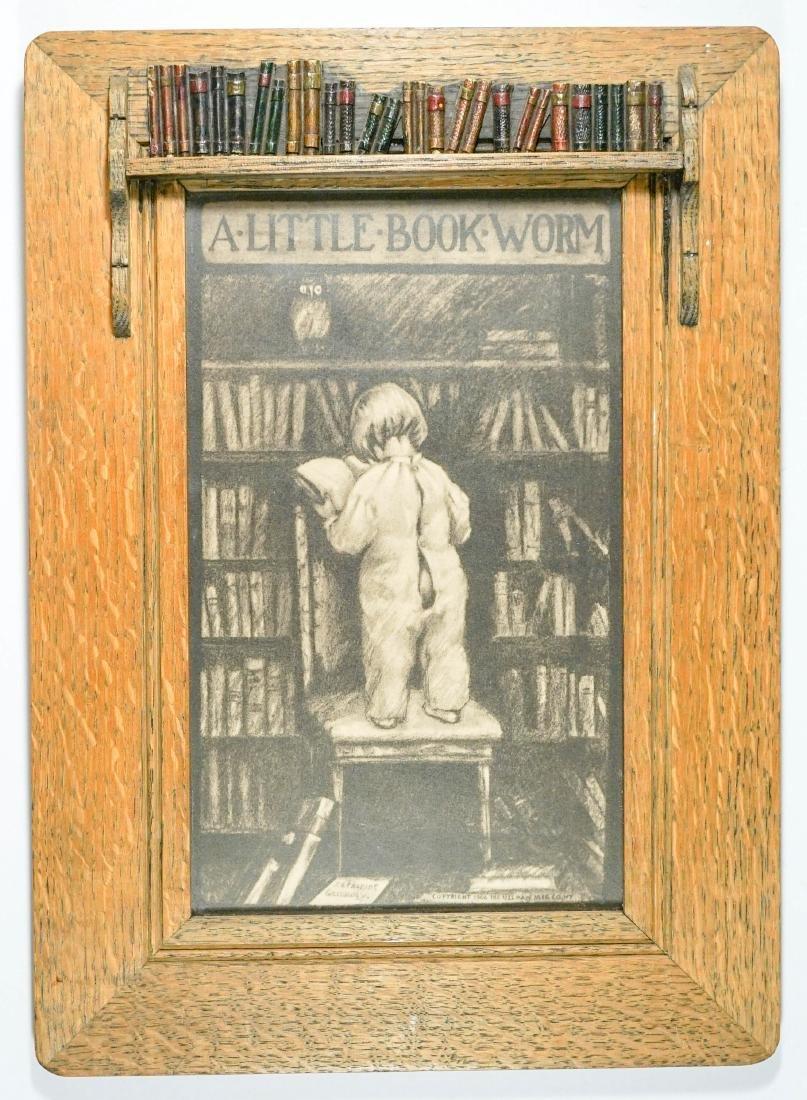 A Little Bookworm Framed Print