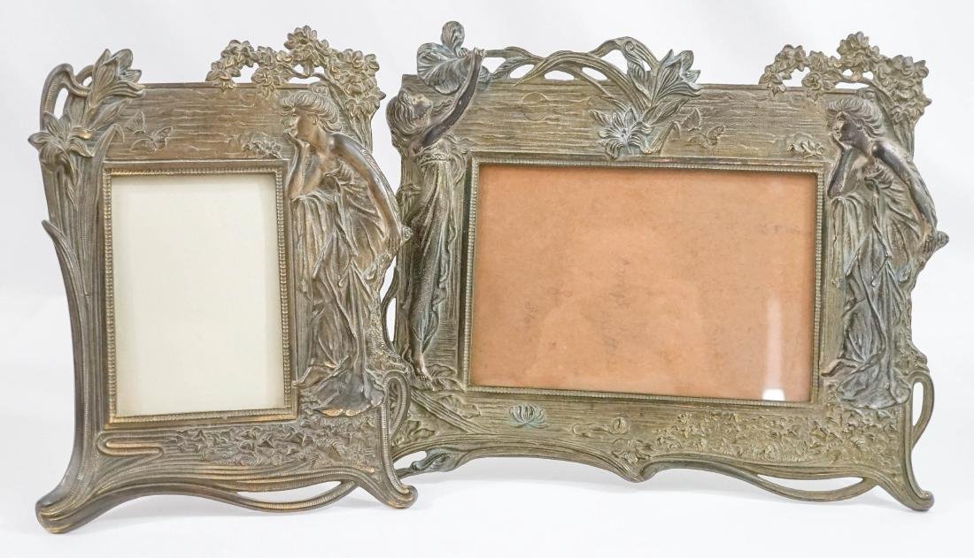 Two Art Nouveau Standing Frames
