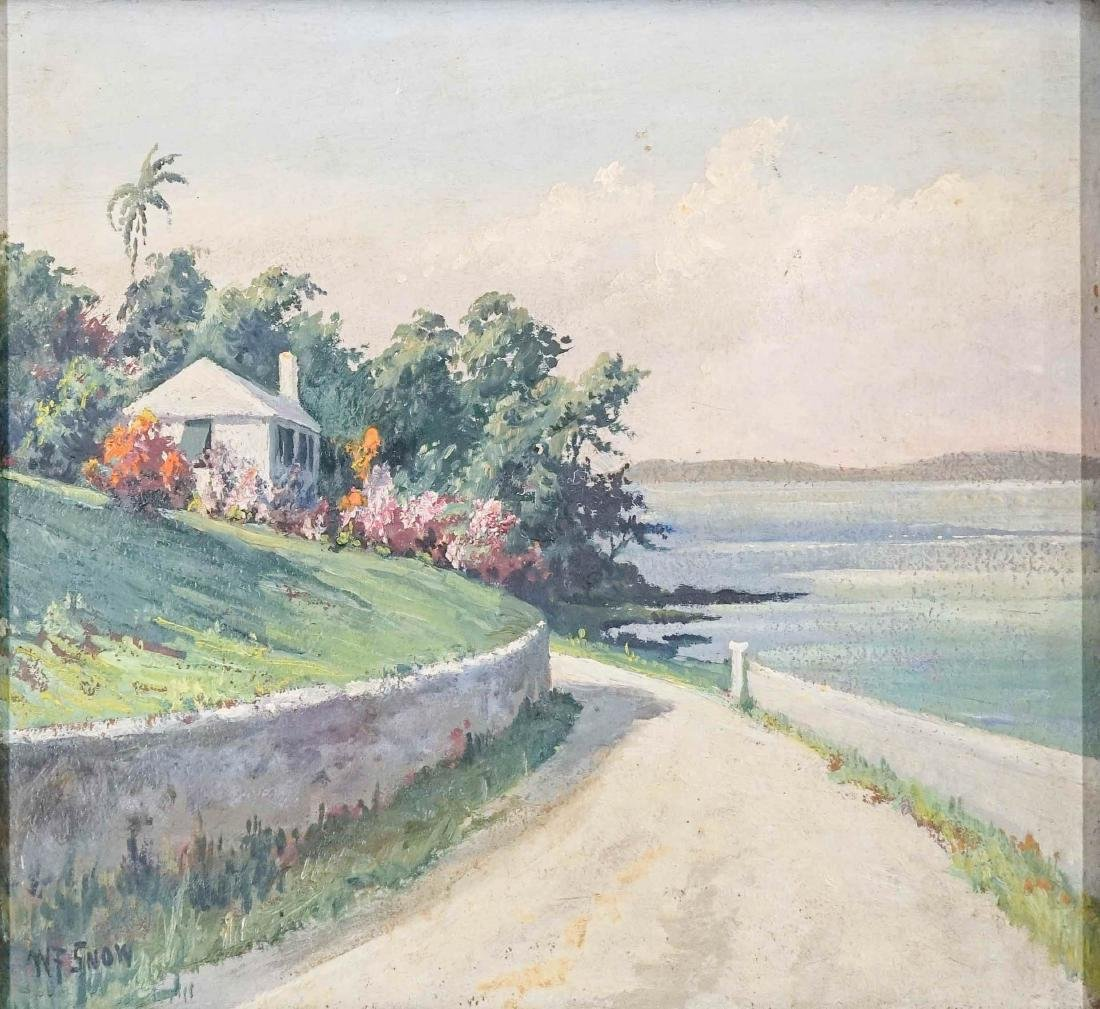 Warren Francis Snow Framed Oil Painting
