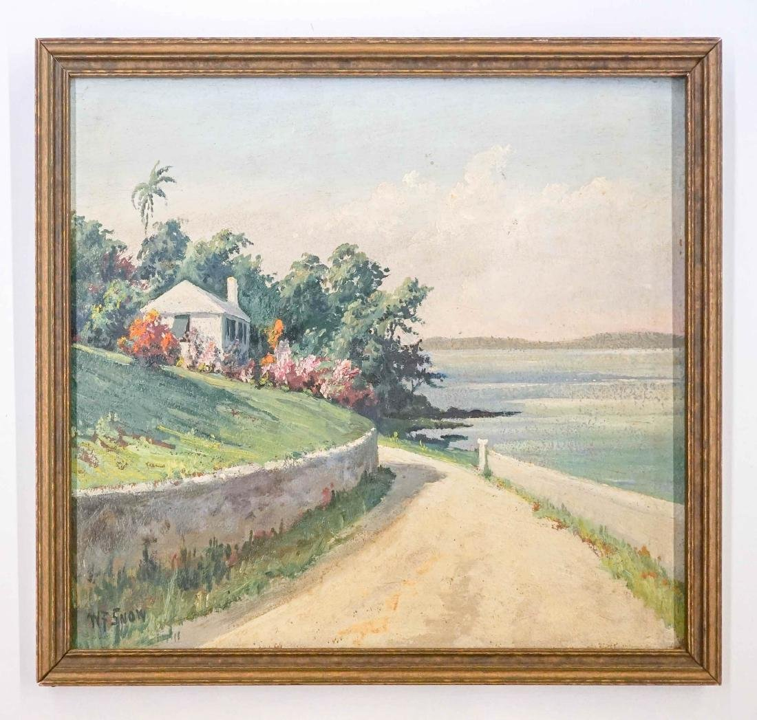Warren Francis Snow Framed Oil Painting - 2
