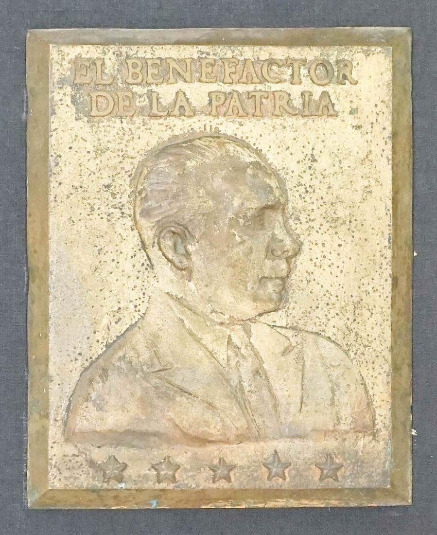 Rafael Trujillo Metal Plaque