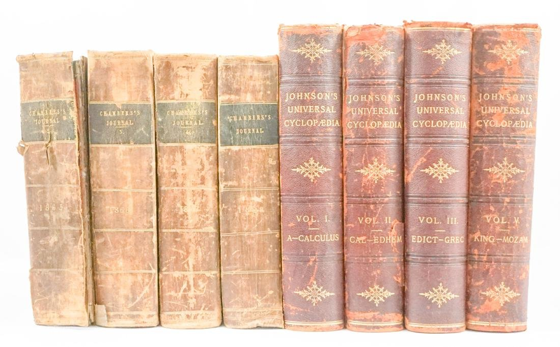 Antique Leather Bound Encyclopedia's
