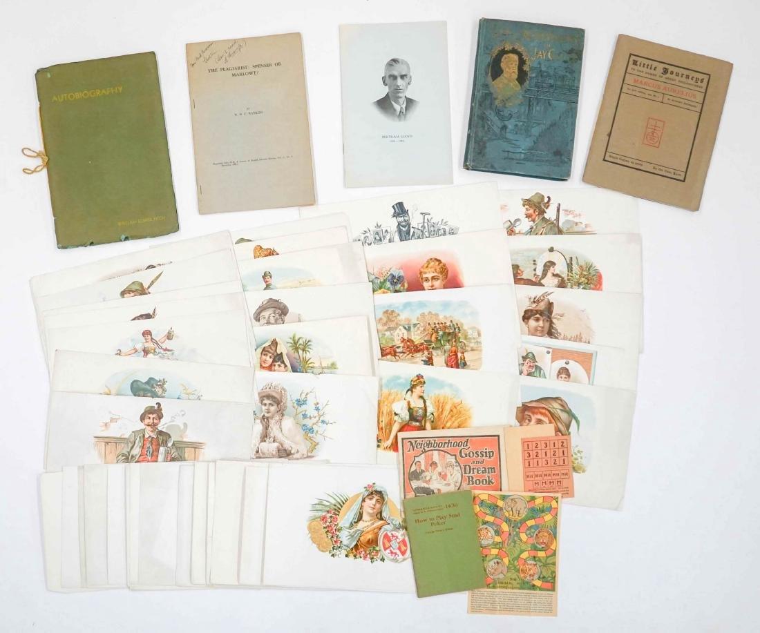 Cigar Box Labels, Books and Ephemera