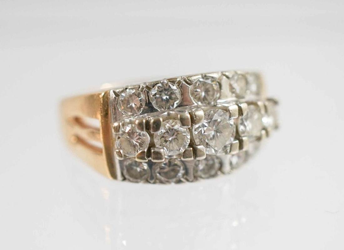 Lady's 14k Yellow and White Gold Diamond Ring
