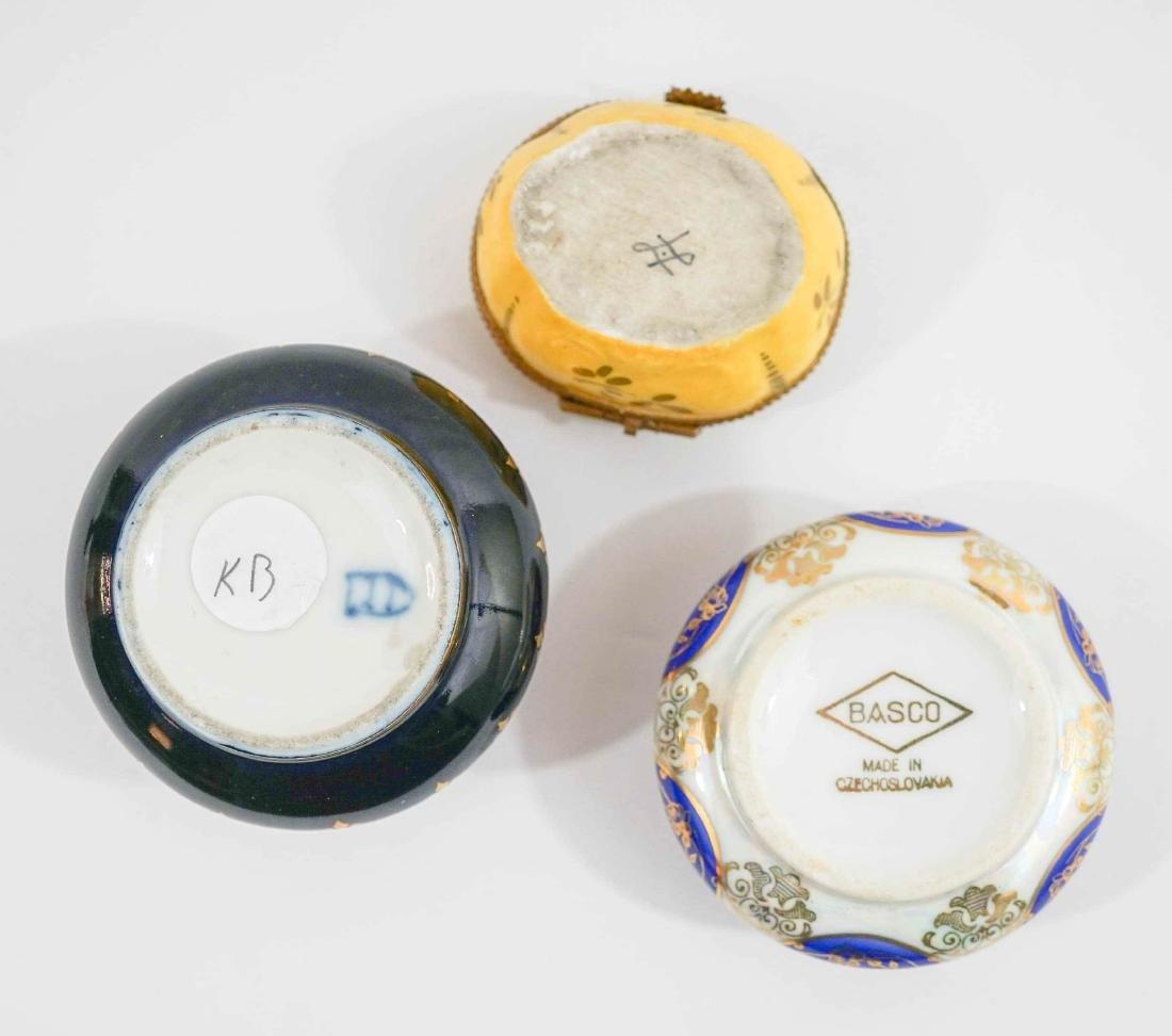Three Fine China Trinket Boxes - 3