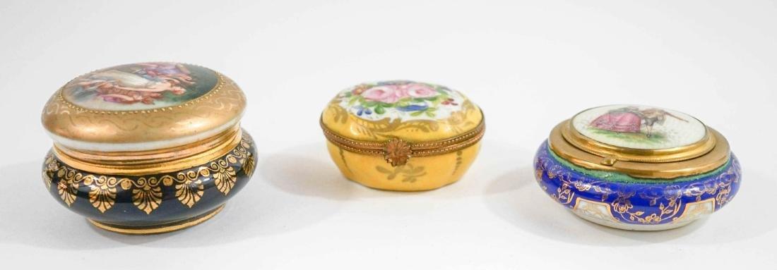 Three Fine China Trinket Boxes - 4