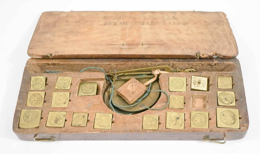 Antique French Scale Weight Partial Set