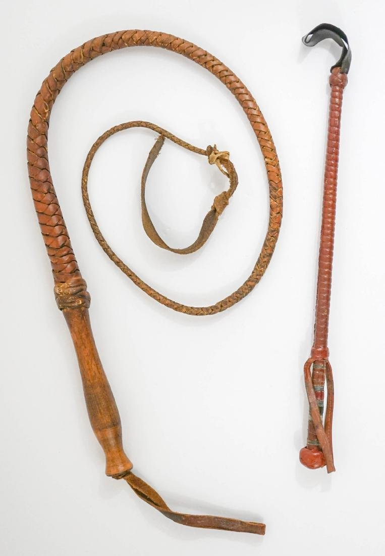 Leather Whip and Riding Crop