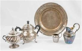 Group of Antique South American Silver Plate