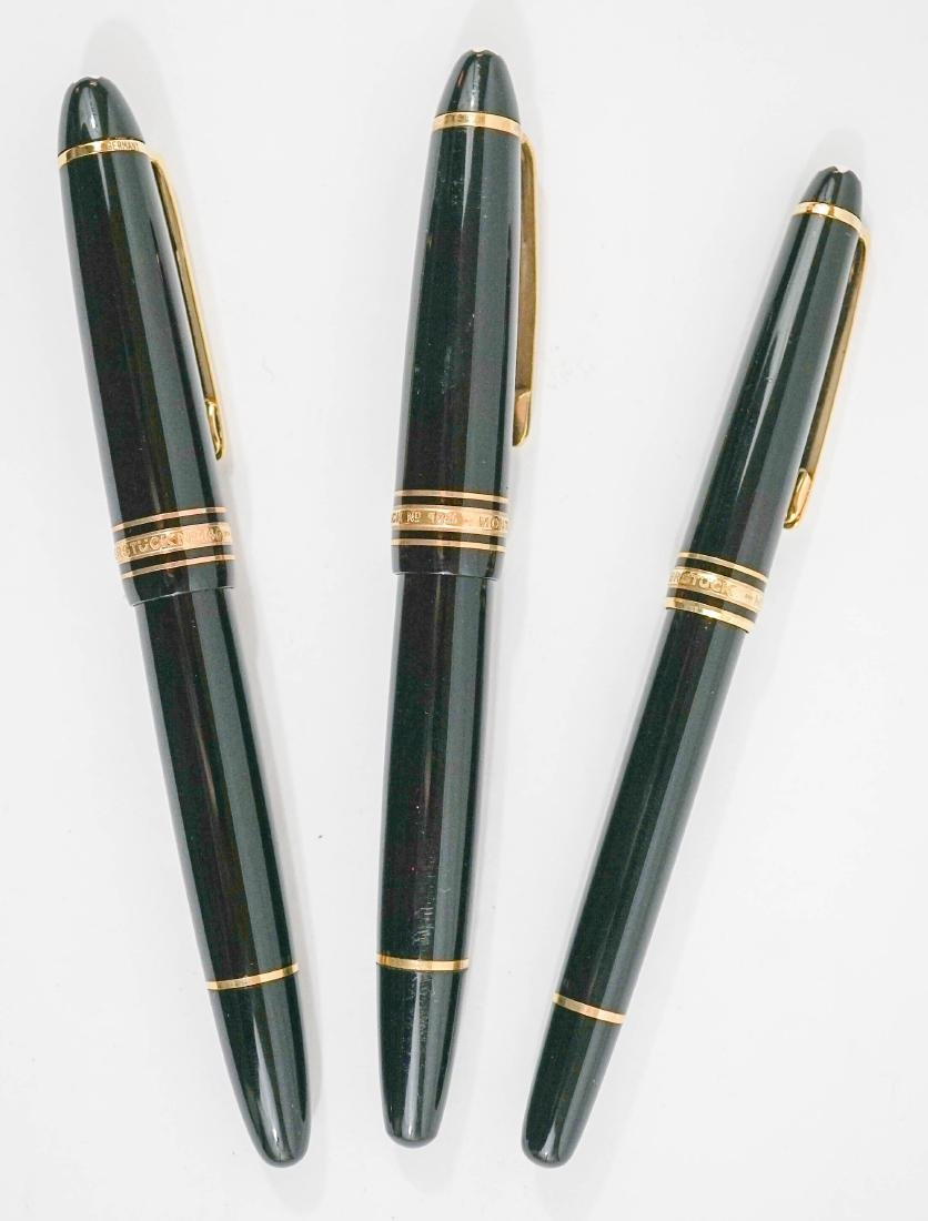 Three Mont Blanc Fountain Pens
