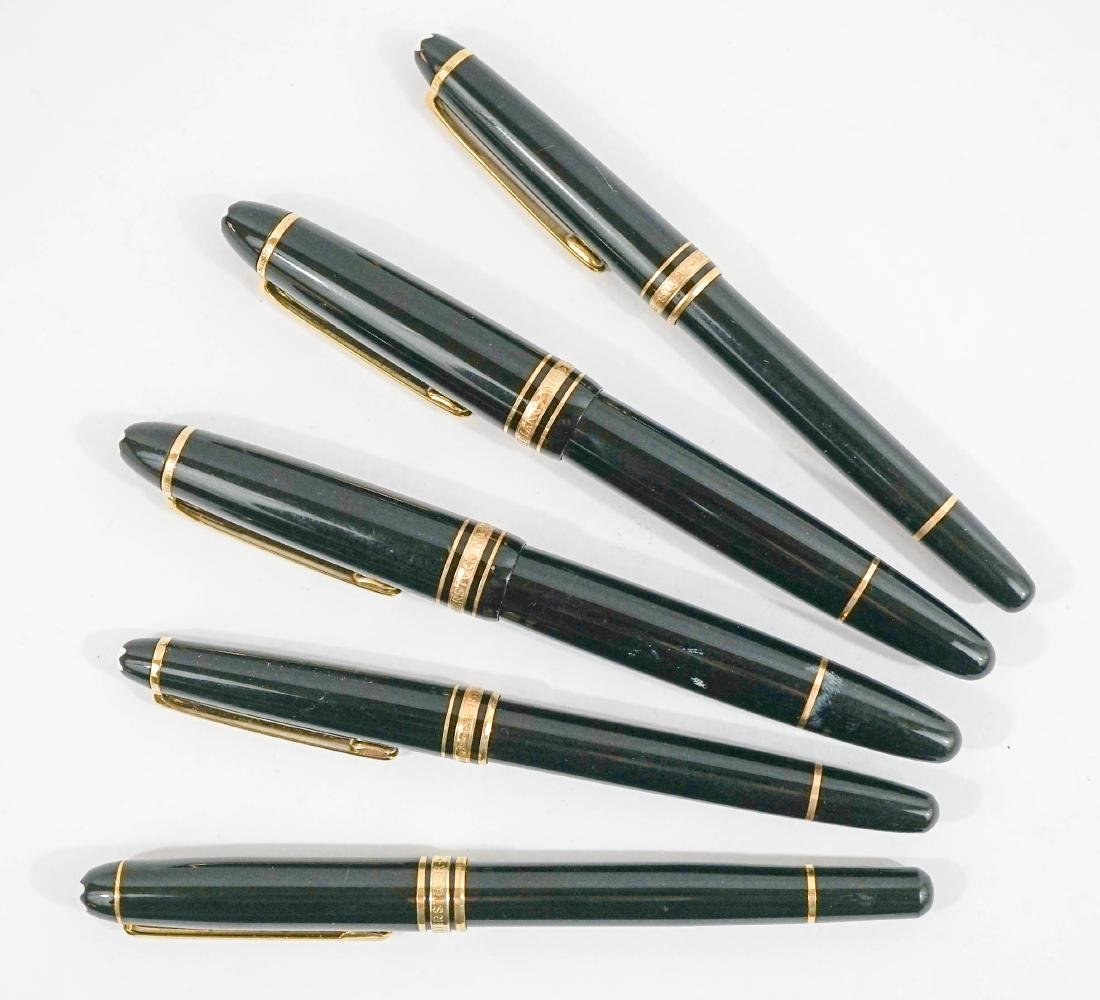 Five Mont Blanc Pens and Highlighters