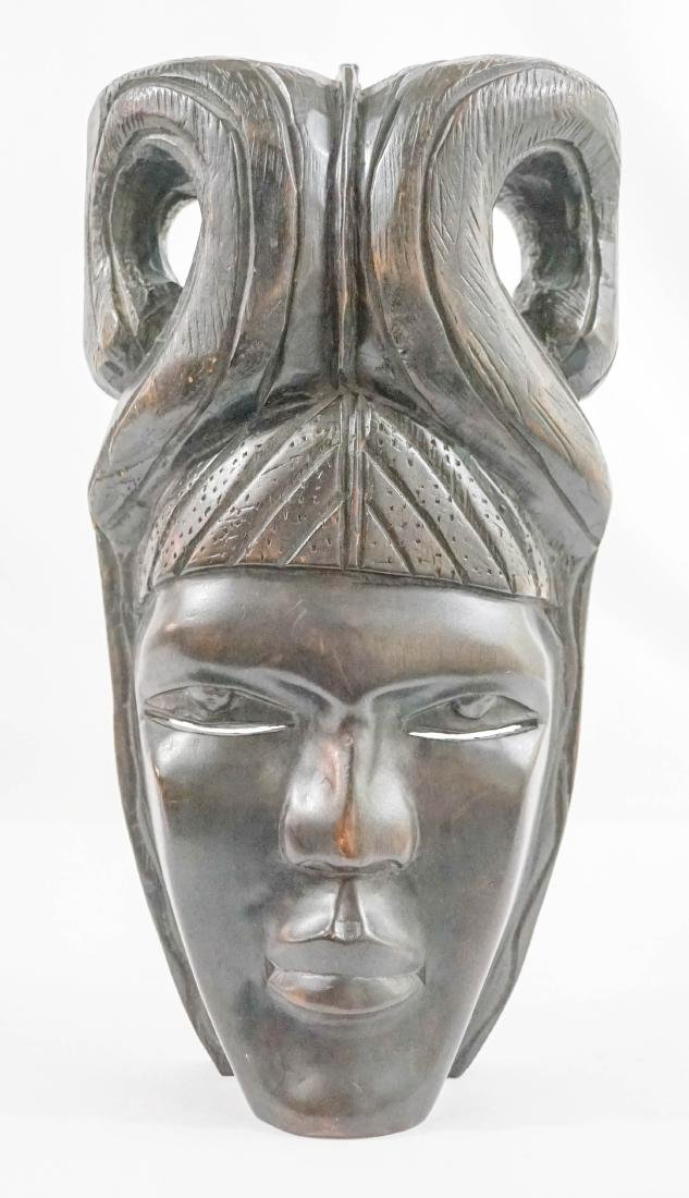 Ethnic Carved Wood Mask