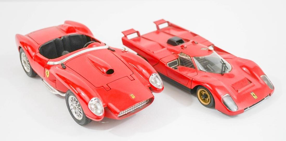 Two 1:20 Scale Model Ferrari Cars