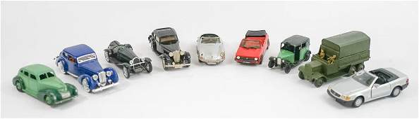 Group of eight 143 Scale Model Cars