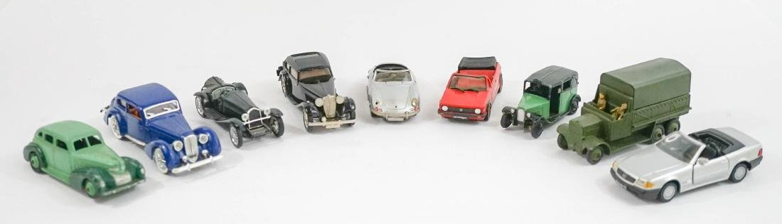 Group of eight 1:43 Scale Model Cars
