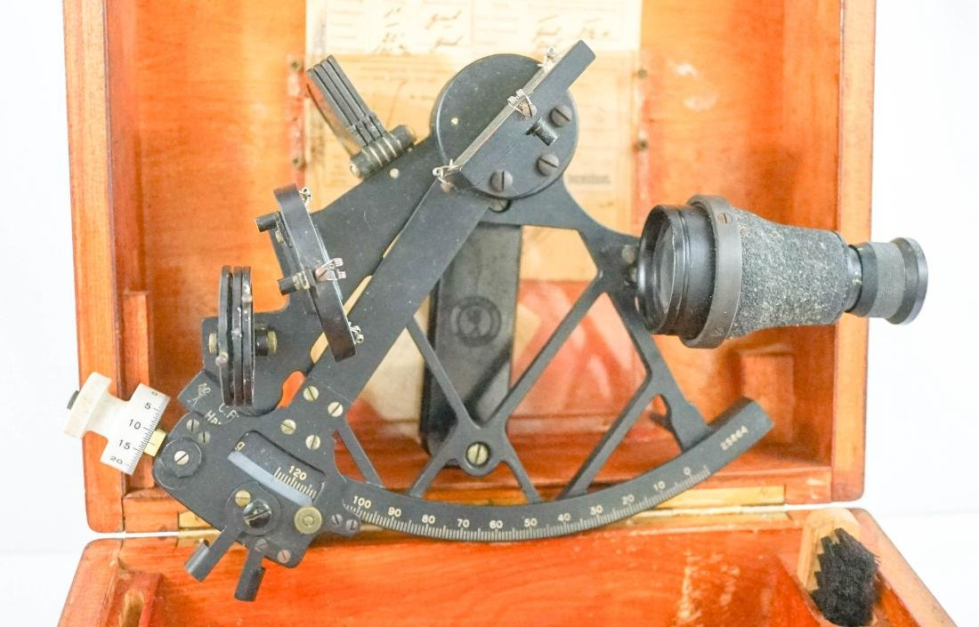 C. Plath German Sextant in Box