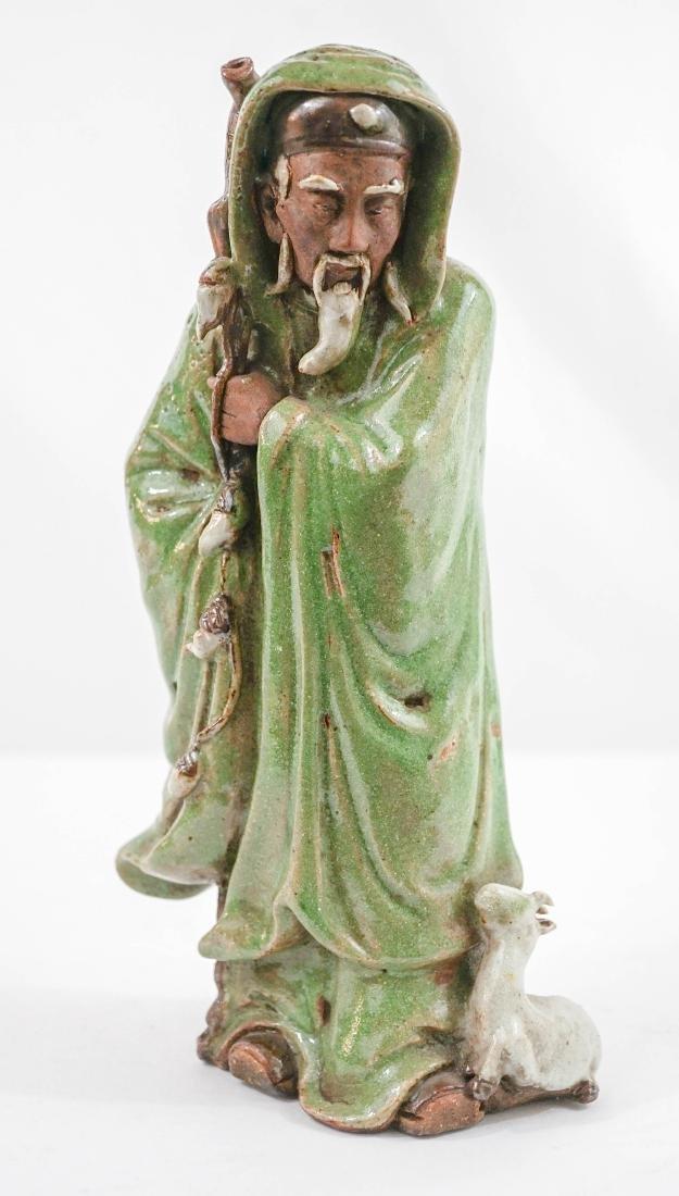Chinese Fatshan Stoneware Su Wu Shepherd