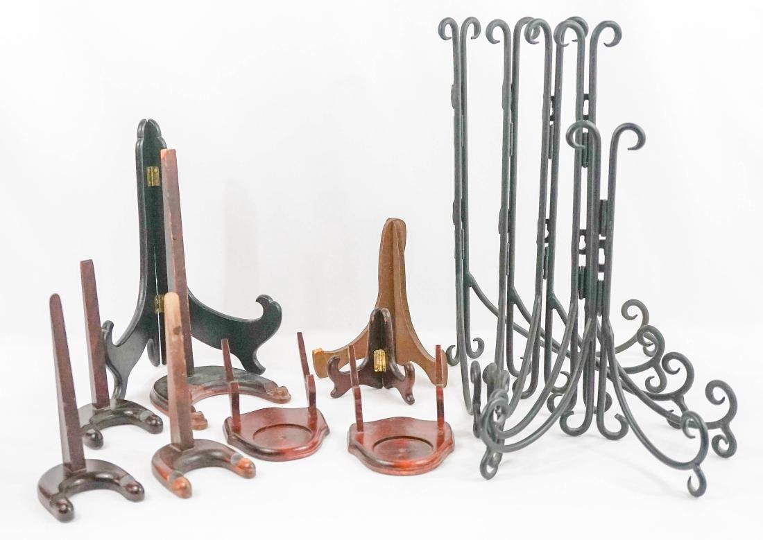 Group of Large Plate Stands and More