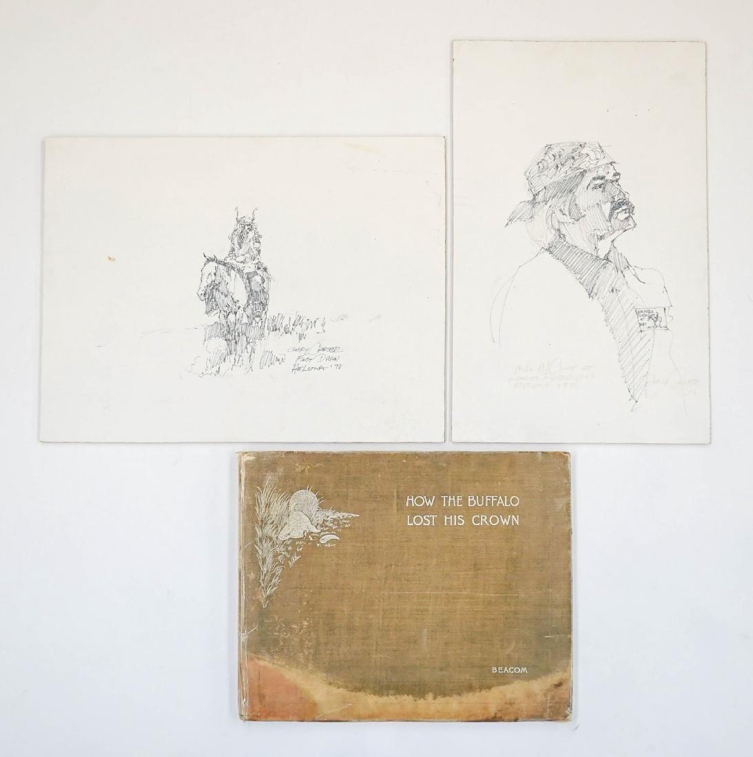 Charles Russell Book, Gary Carter Original Art