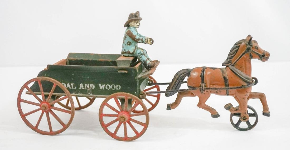 Coal and Wood Antique Cast Iron Toy
